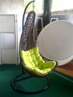 Sabit Hanging Chair Ayunan Rotan Alami